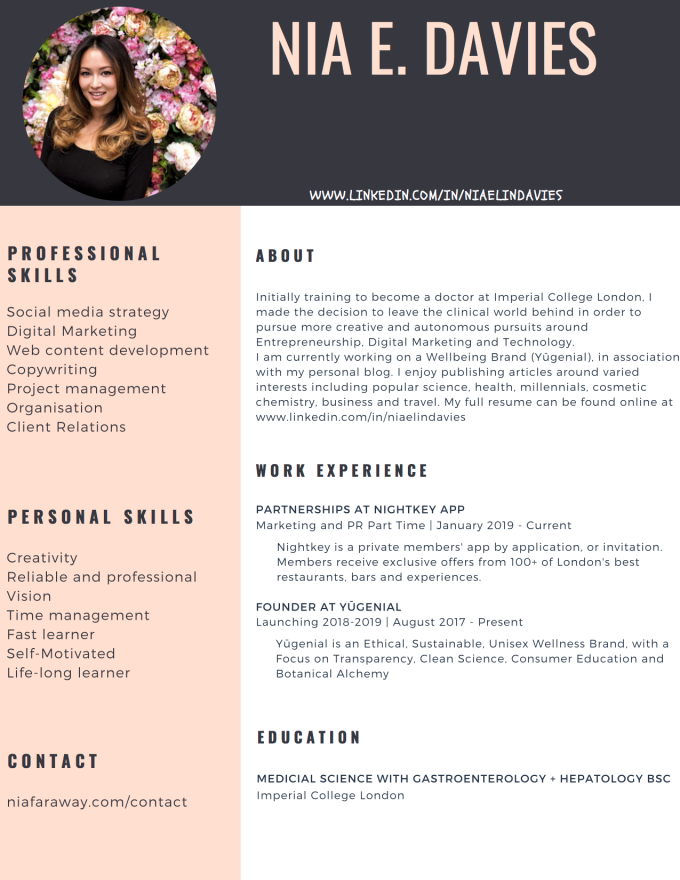 Charcoal and Pink Photo Girl Minimalist Resume copy.png